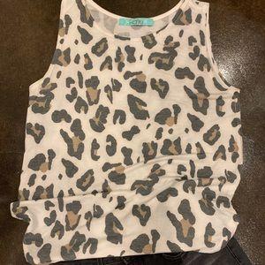Karlie top leopard print